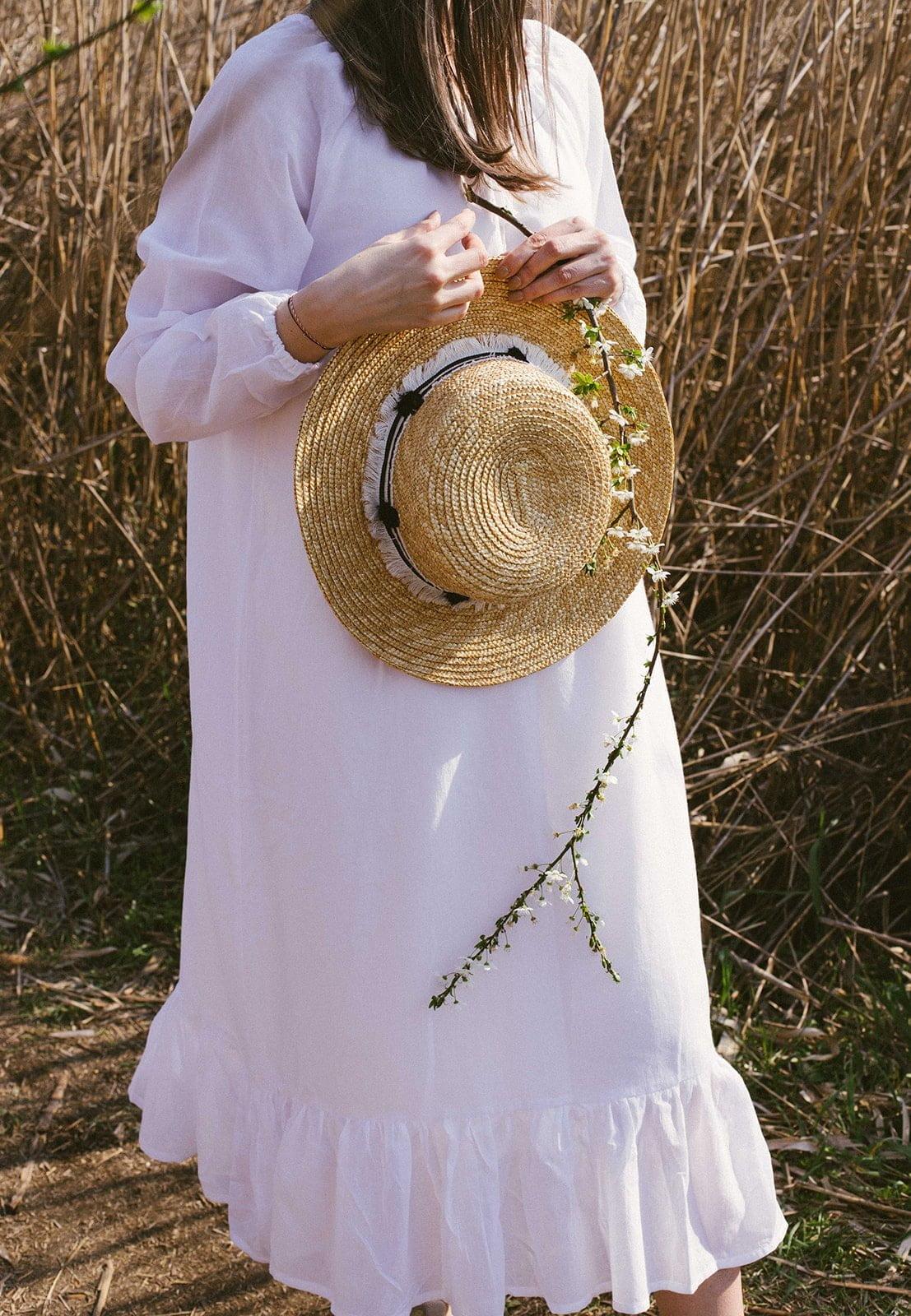 Rochie femeie alba confortabila vascoza panza topita
