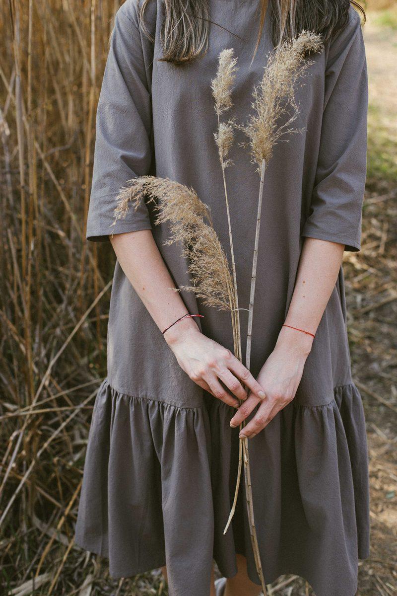 Rochie femei croiala simpla minimalista confortabila bumbac natural